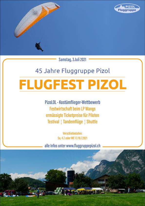 Flugfest 2021- 45 Jahre Fluggruppe Pizol!